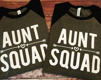 Aunt Squad, Auntie tee, Best Auntie, Raglan tee