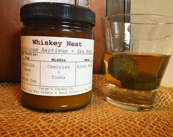 Whiskey Neat Scented Natural Soy Wax Candle