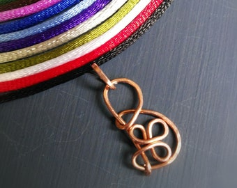 Initial Pendant . Copper pendant. Stainless Steel pendant. Brass pendant. Rainbow Gioiell. Hand Made.