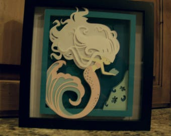 3D Mermaid Wall Art
