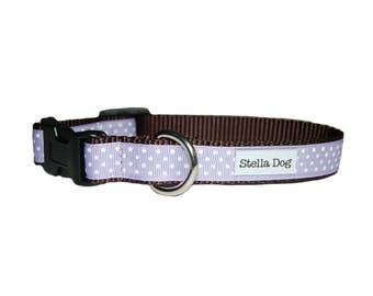 Small Swiss Dot - Lavender Collar *FREE SHIPPING*