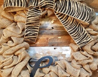 Love Natural Burlap Wreath