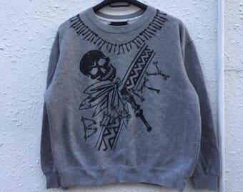 vintage Bounty Hunter Sweatshirt Skull Bone Printed