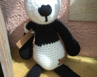 Teddy, Panda bear, 30 cm, handmade crochet,