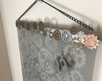 Steampunk Wall Hanging Jewelry Organizer