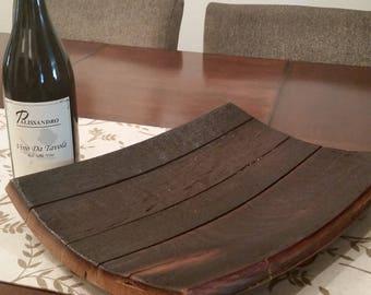Wine barrel center piece