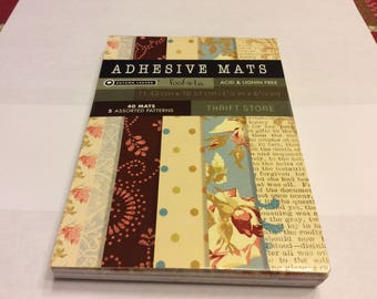DMD Adhesive Mats Autumn Leaves Foof-a-La Thrift Store Mat Stack Scrapbooking 4.5 x 6.5 Acid Lignin Free 40 Mats