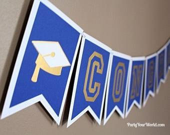 Custom Graduation Banner, Congrats Grad Banner, College/ High School Graduation Decorations