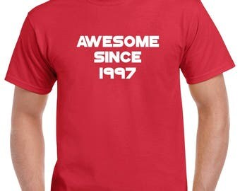 Awesome Since 1997 Shirt- 21st Birthday Tshirt- 21st Birthday Gift