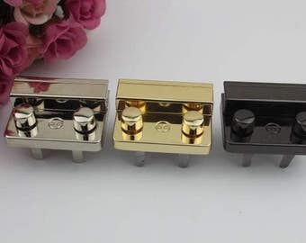 2sets 44 x 30mm gold silver black Purse lock twist purse turn lock clutch clock Turn Lock Purse Twist Lock Latch