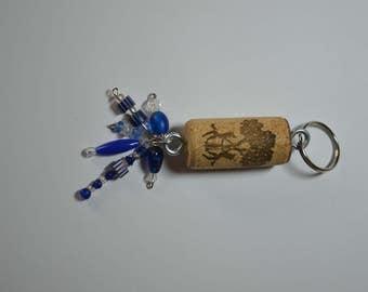 Wine Cork Keychain