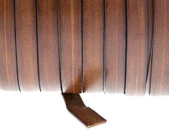 8 mm brown leather Strap