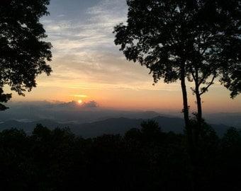 Mountain Sunrise Canvas Art