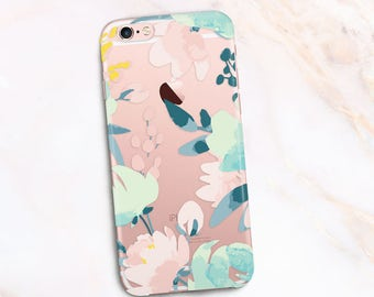 Colorful Case Watercolored Flowers Case, iPhone 7 Case leaves iPhone 6s Case Flowers -Phone cover Sprint design  15