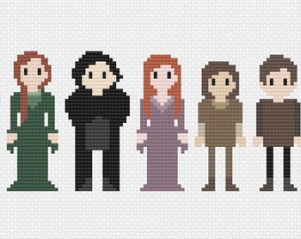 Game of Thrones House Stark Cross Stitch Pattern PDF Instant Download