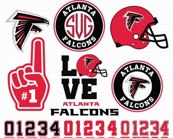Atlanta Falcons- Cuttable Design Files(Svg, Eps,Dxf, Jpg) For Silhouette Studio, Cricut Design Space, Cutting Machines,Instant Download