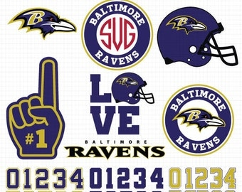 Baltimore Ravens- Cuttable Design Files(Svg, Eps,Dxf, Jpg) For Silhouette Studio, Cricut Design Space, Cutting Machines,Instant Download