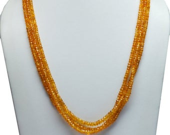 AA Quality Natural FANTA Garnet Faceted /15.5 inch strand approx /2.5-3.5mm