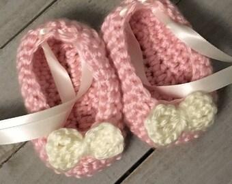 Crochet Baby Ballet Slippers