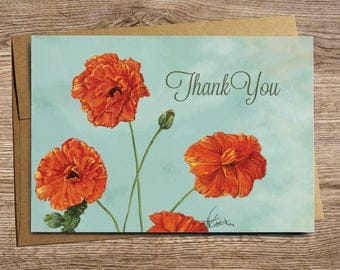 Poppy-Thank You - Greeting Card