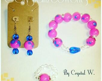 Bubblegum Beaded Jewelry set