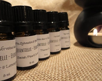 Pure essential oil blends - set of 5 (for use with diffuser / aromatherapy / natural cleaning products)