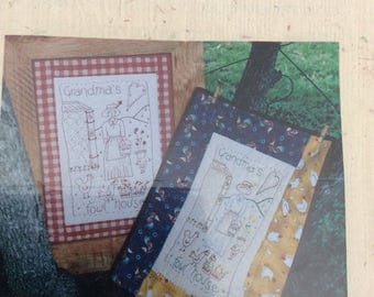 Joanne's Girls Stitchery Pattern. Grandmas Fowl House.
