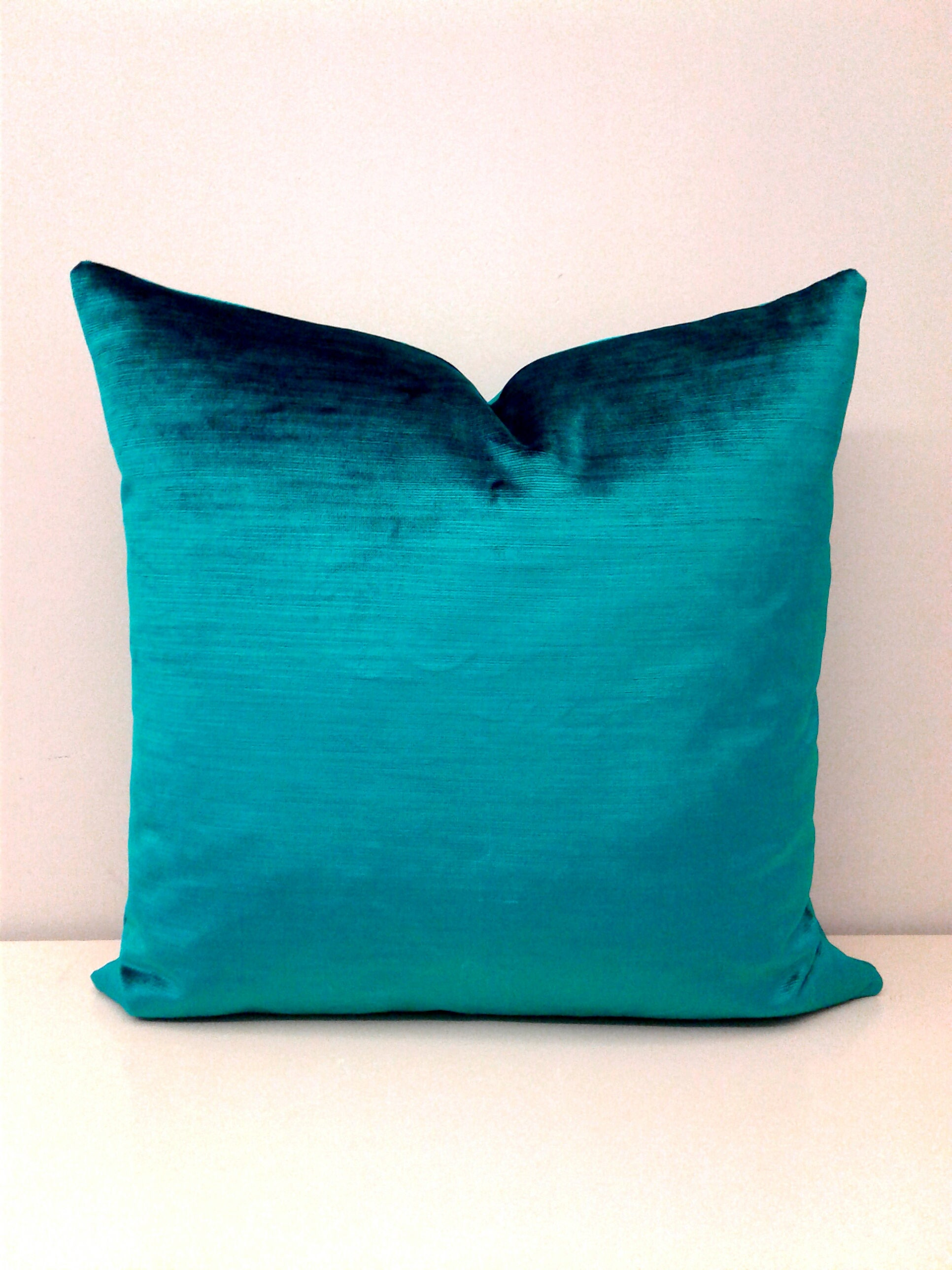 Throw Pillow Covers Teal : Teal Green Luxury Velvet Pillow Cover Throw Pillow Green