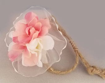 Garden Flower And Dusty Rose Baby and Adult Flower Bracelet -0056