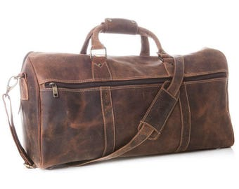 Noble leather travel bag