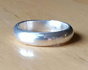 5mm wide silver band