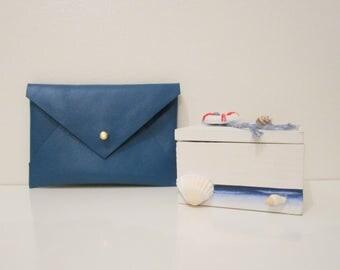 Envelope card holder / wallet / leather wallet / leather / envelope business card holder / card pouch / card wallet
