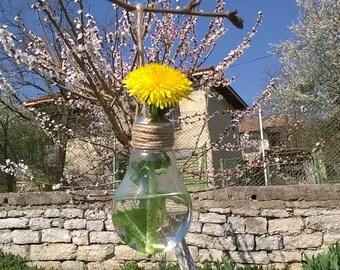 Light Bulb Vase, Bulb Vase, Art Light Bulb, Glass Vase, Vase, Miniature Vase, Water vase, Hanging Vase, Light Bulb Hanging Vase