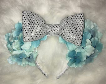 Tiffany Blue Flower Minnie Ears