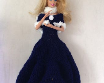Barbie Robe hook with his cape and Crown winter