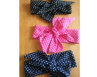 Polka dot headwrap