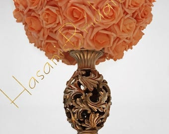Peach Rose Centerpiece