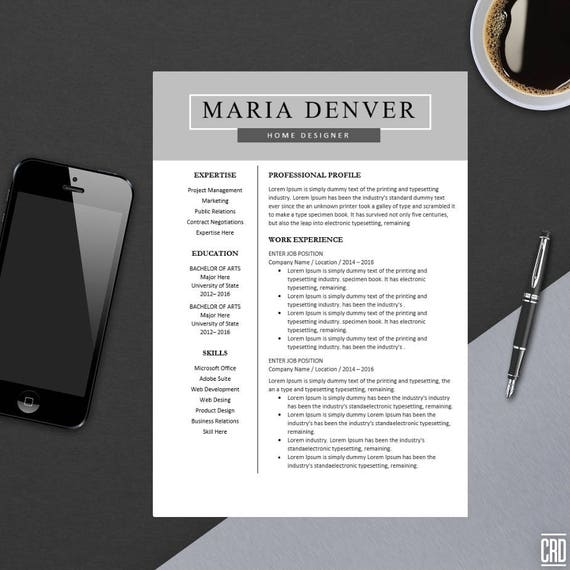 Minimalist Classroom Uk ~ Top resume template for ms word minimal design
