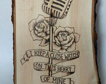 Wood Burned Art Etsy