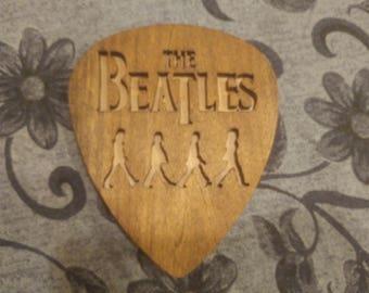 Hand Made Beatles Pick Scroll Saw art Work