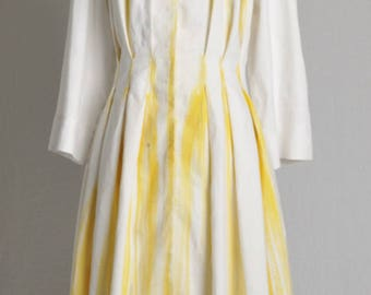 Sale-50% linen in the colors of the Sun dress coat