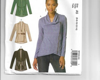 MP460, McCalls, Sewing, Pattern, Jacket, Blazer, Top,Blouse, Outerwear, Easy, Casual, Long, Sleeve