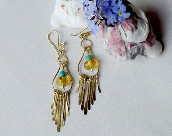 Earrings in amber from the Mexico - Andalusian