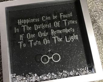 Harry Potter Dumbledore Quote Box Frame