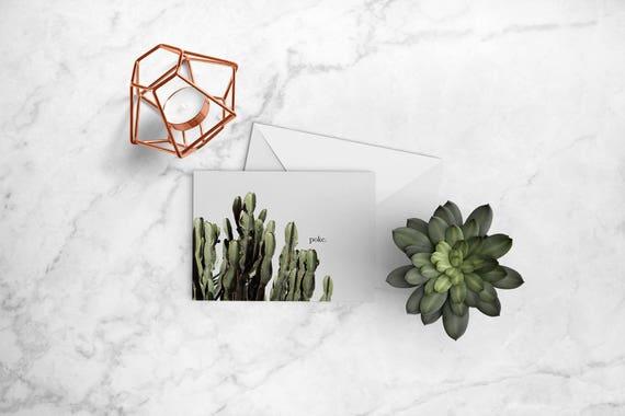 Kaktus-Grußkarte Poke-Karte ich denk an dich nur weil