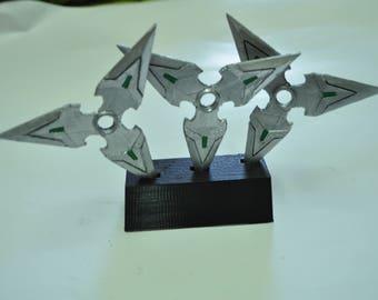 OVERWATCH:genji shuriken 3D print PLA+stand