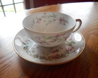 haviland china, cup and saucer