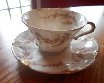 A vintage haviland cup and saucer