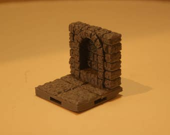 3D Dungeon Tiles - Alcove Wall Tile