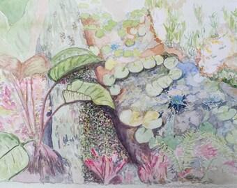 McKee Gardens - original watercolor painting